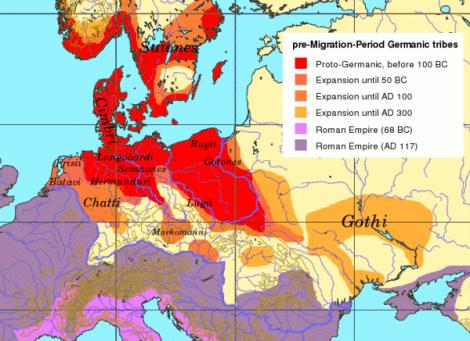 germanian map