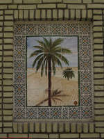 palm tree mosaic