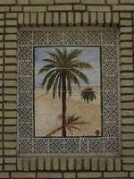 palm tree mosaic